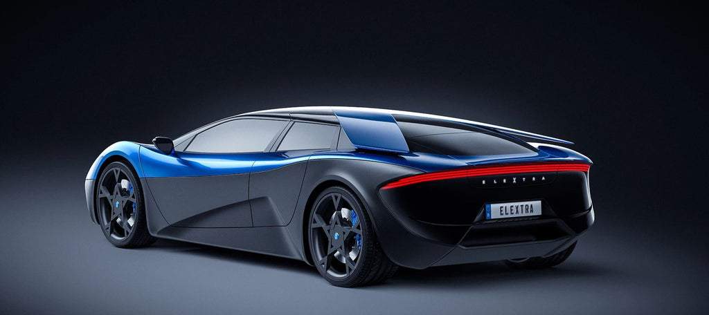 ELEXTRA electric supercar rear view