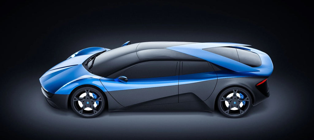 ELEXTRA electric supercar side view