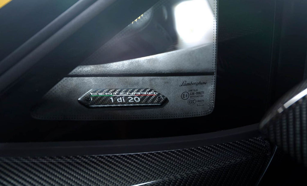 lamborghini centenario serial badge