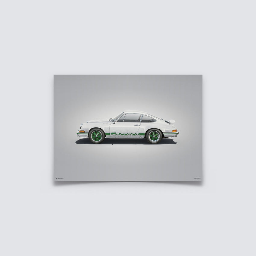 AUTOMOBILIST - PORSCHE 911 RS - WHITE - COLORS OF SPEED POSTER
