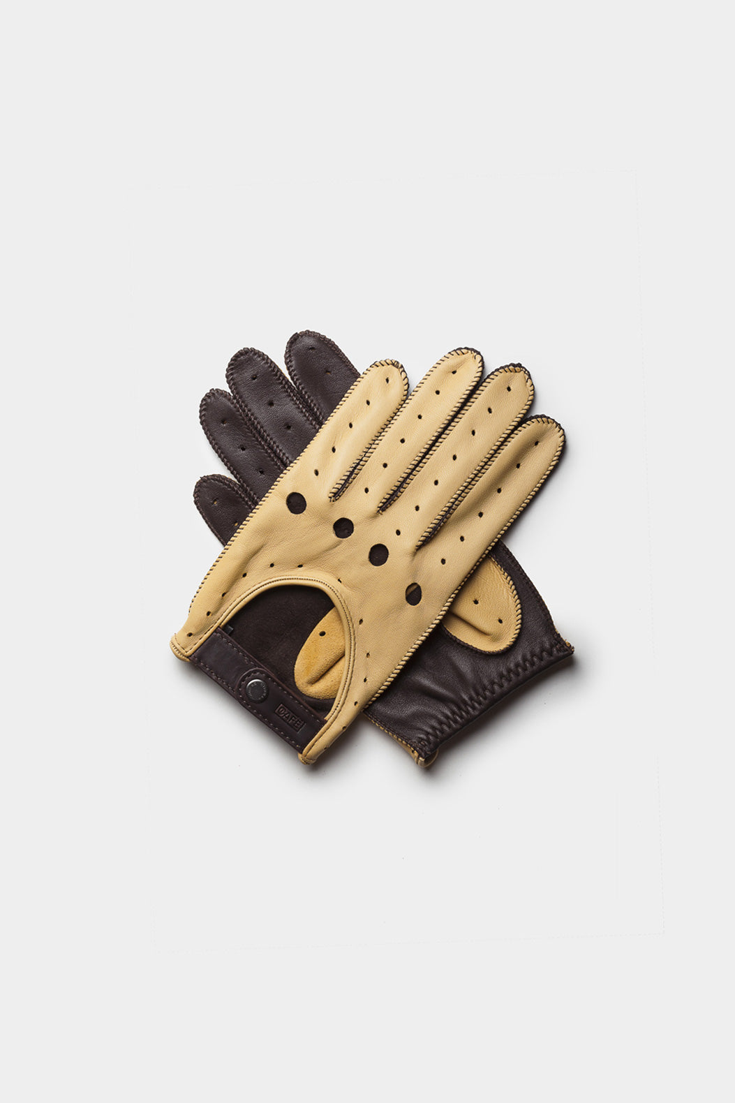 Triton Driving Gloves - Cream + Black Coffee