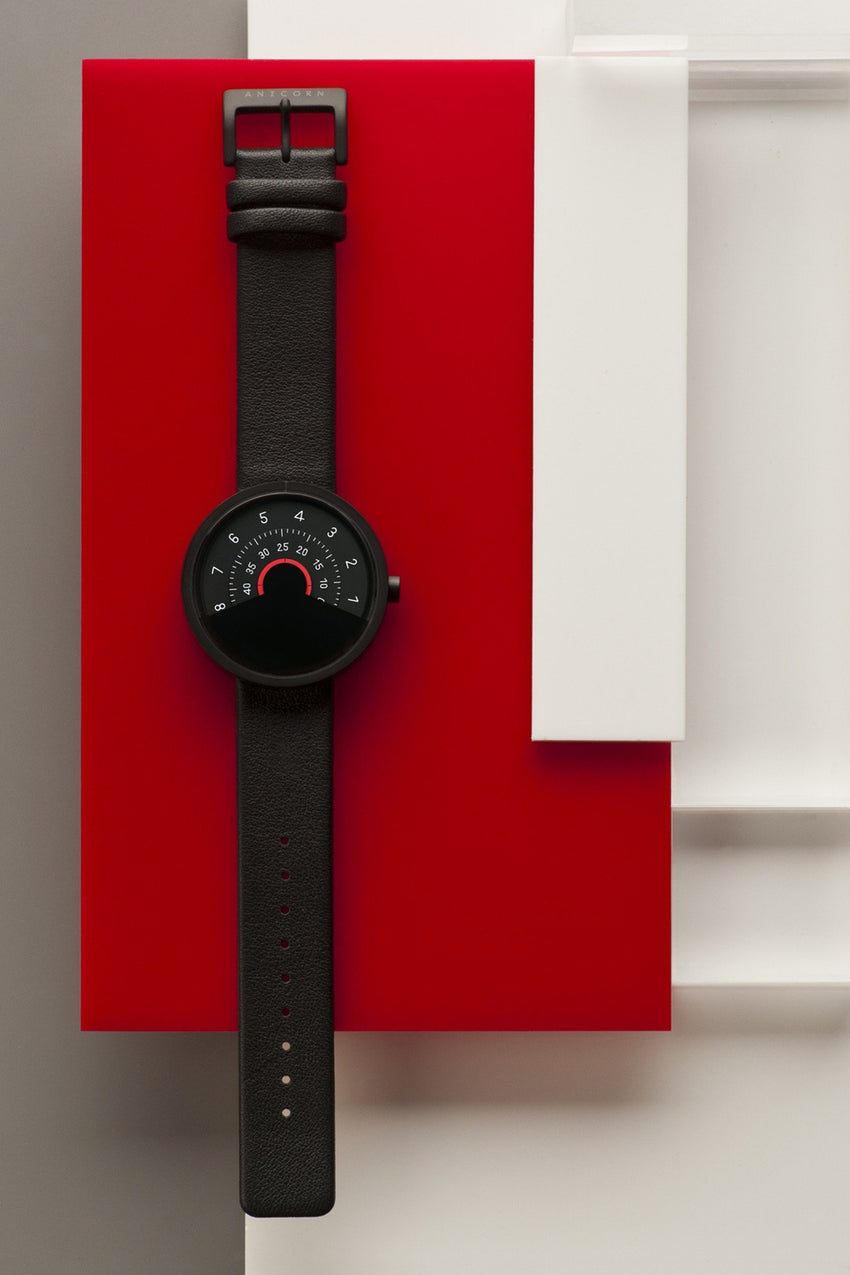Anicorn Series 000 - Black & Red Automatic Watch-Anicorn-TheArsenale