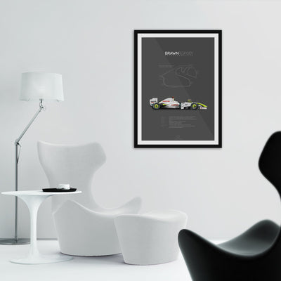 Brawn-Mercedes BGP001 Interlagos 2009 | Portrait-Last Corner-TheArsenale