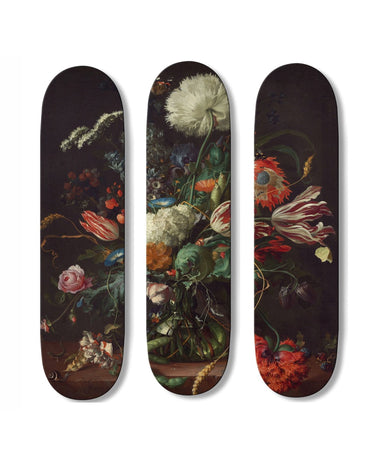 Flowers Triptych Skateboards-Boom-Art-TheArsenale
