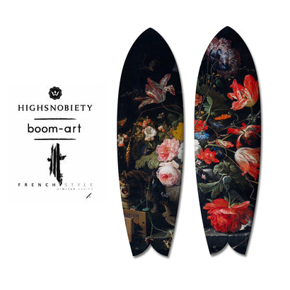 HighSnobiety x Boom-Art Flower Surfboard Diptych-Boom-Art-TheArsenale