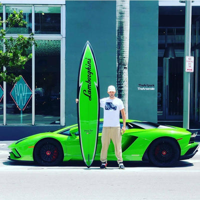 Lamborghini Lightning Green Surfboard-Grand Prix Surfboards-TheArsenale