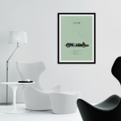 Lotus-Ford 49 Kyalami 1968 | Portrait-Last Corner-TheArsenale