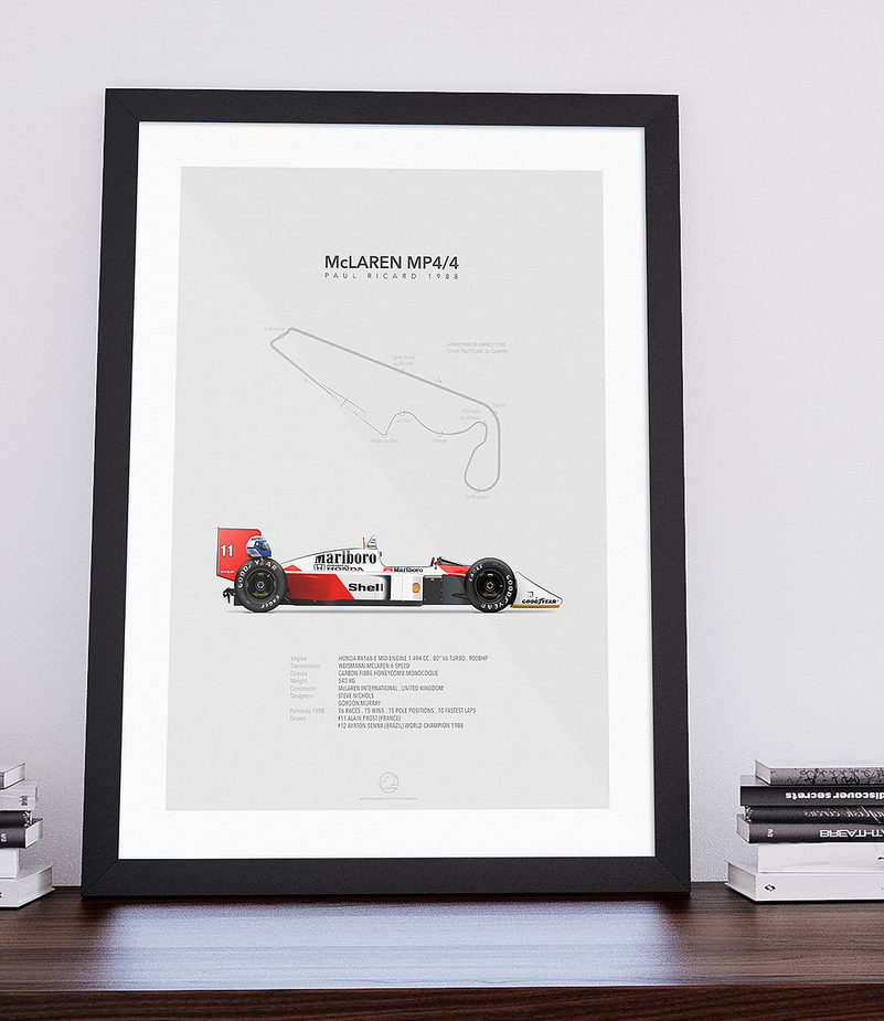 McLaren-Honda MP4/4 Paul Ricard 1988 | Portrait-Last Corner-TheArsenale
