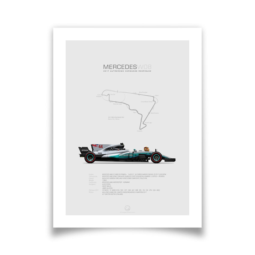 Mercedes W08 Mexico 2017 | Portrait-Last Corner-TheArsenale