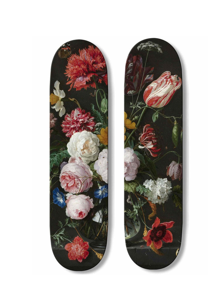 "Skateboard Duo ""Flowers""-Boom-Art-TheArsenale"