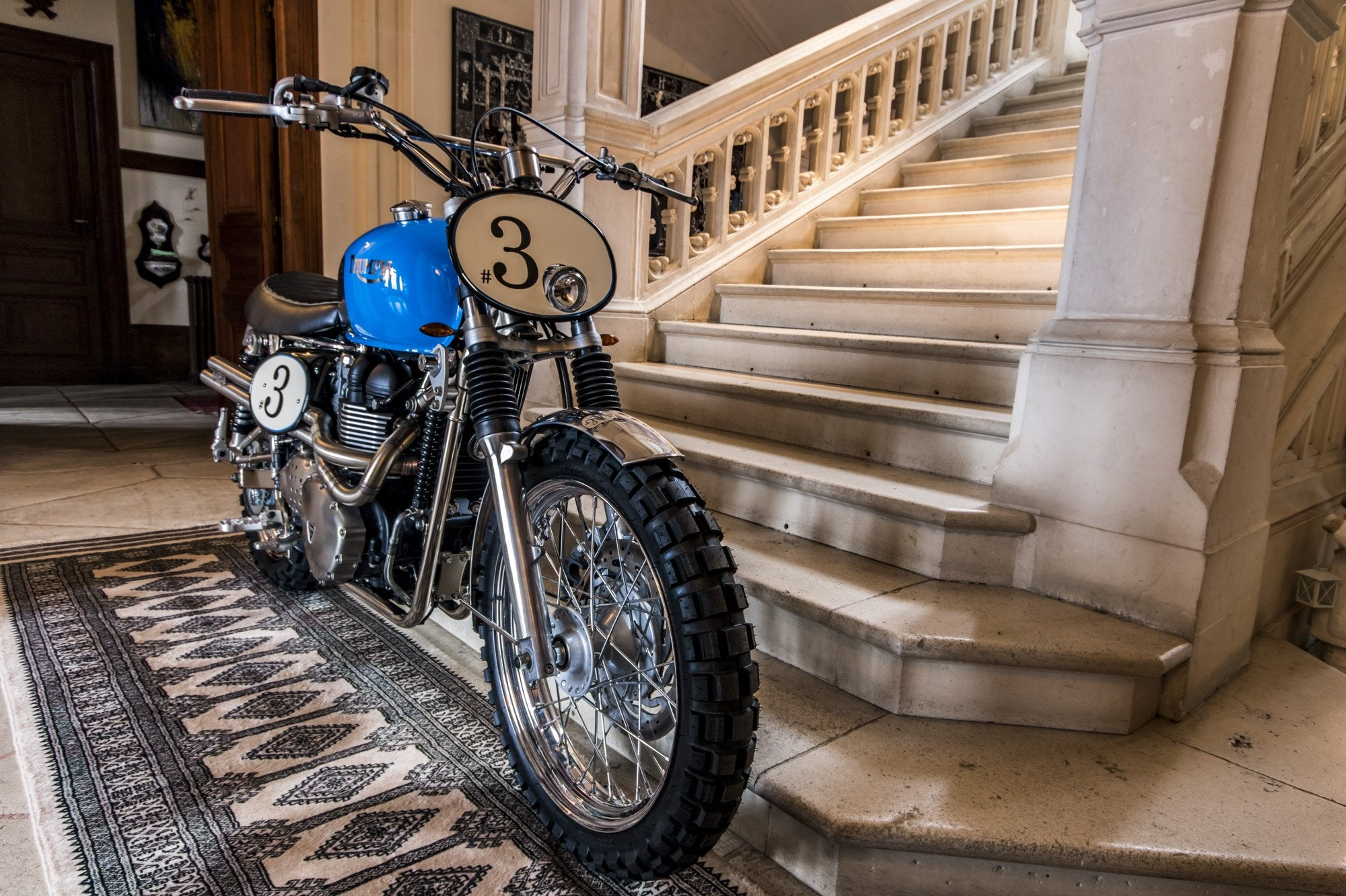 Triumph Scrambler Blue Legend-FCR Original-TheArsenale