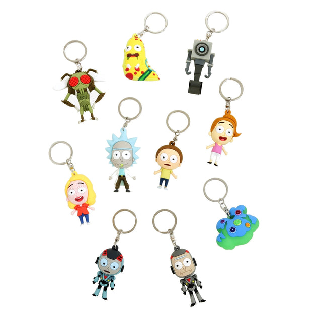 3D Foam Keychains - Rick and Morty