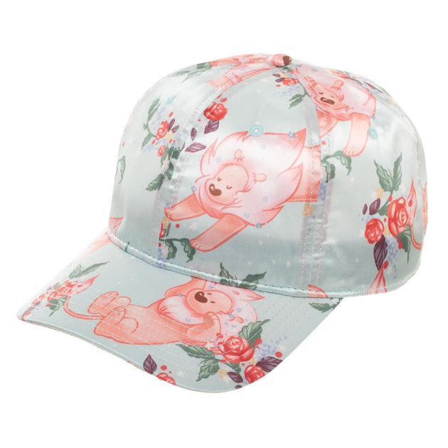 Flowery Lion Satin Hat