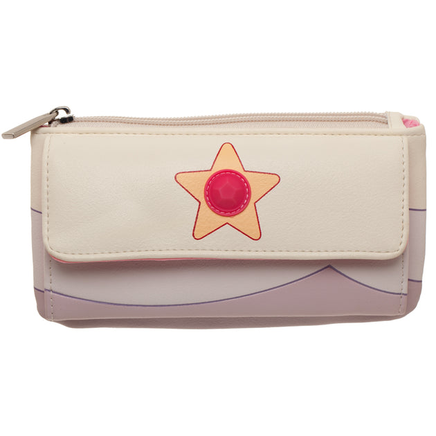 Rose Quartz Zip Flap Wallet