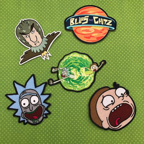 Rick and Morty Patches