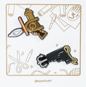 Memory Gun & Grappling Hook Pins