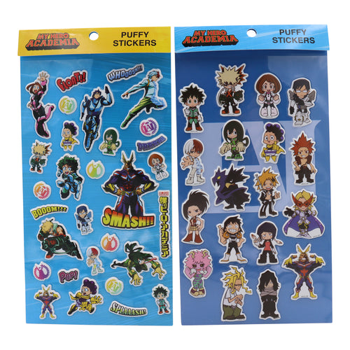 My Hero Academia Puffy Stickers