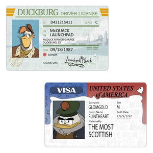 DuckTales ID Cards
