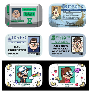 Gravity Falls ID Badge Buttons