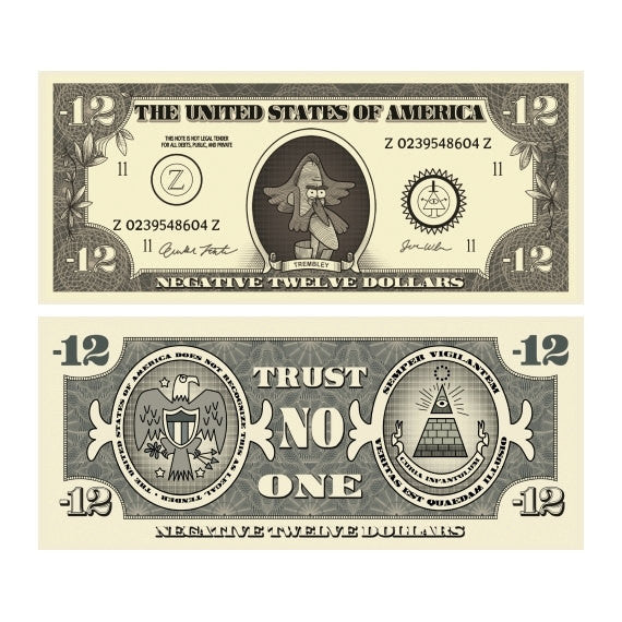 Negative Twelve Dollar Bills