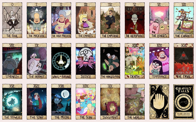 Gravity Falls Tarot Card Deck