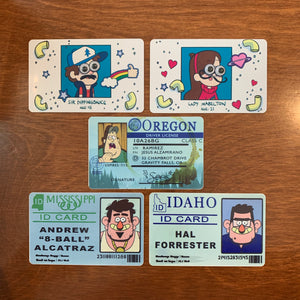 Gravity Falls ID Cards