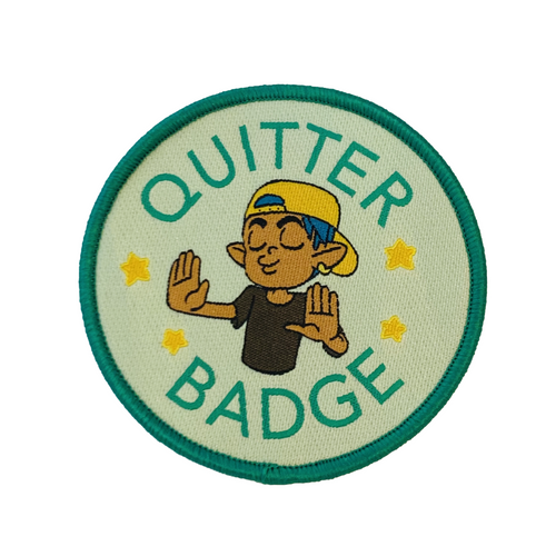 Quitter Badge Patch