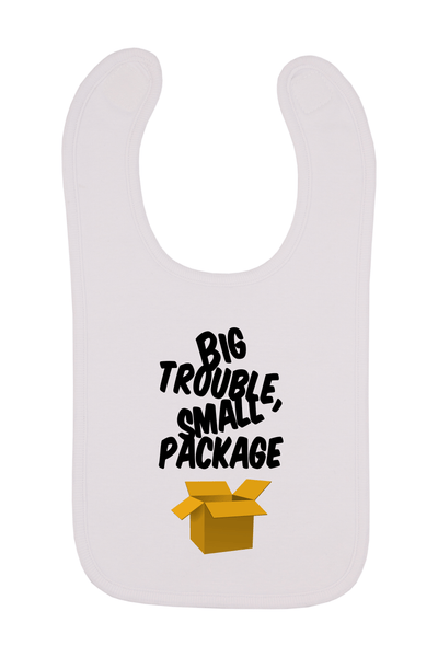 Big Trouble Small Package Baby Bib, 0-24 Months