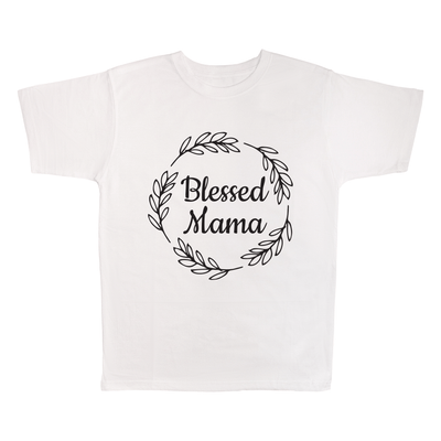 Blessed Mama, 100% Polyester Adult Shirt