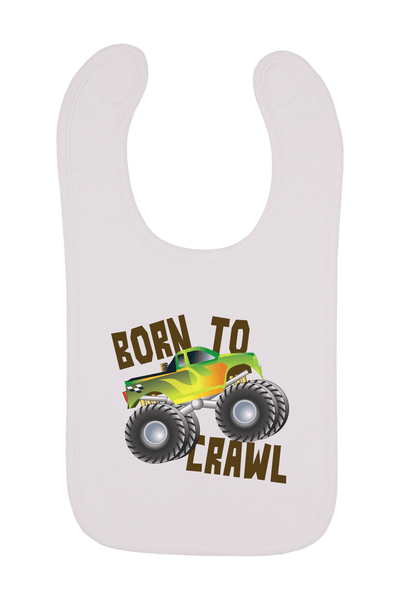 Born To Crawl Baby Bib, 0-24 Months