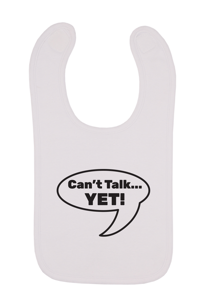 Can't Talk Yet Baby Bib, 0-24 Months