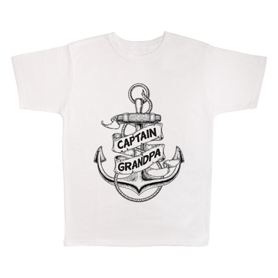 Captain Grandpa, 100% Polyester Adult Shirt