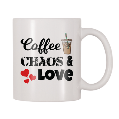 Coffee Chaos And Love 11oz Coffee Mug