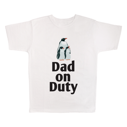 Dad On Duty, 100% Polyester Adult Shirt