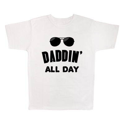 Daddin' All Day, 100% Polyester Adult Shirt