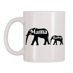 Mama And Baby Elephants 11oz Coffee Mug