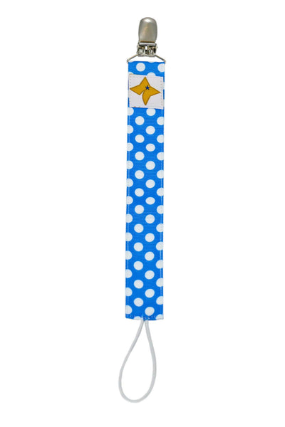 Pacifier Clip - Polka Dot Design