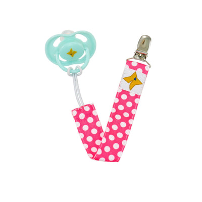 Pacifier Clips 3-Pack - Girls