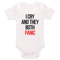 I Cry And They Both Panic Baby / Toddler Bodysuit