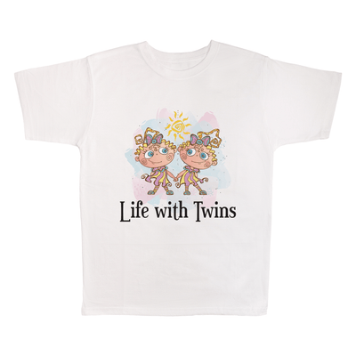 Life With Twins, 100% Polyester Adult Shirt