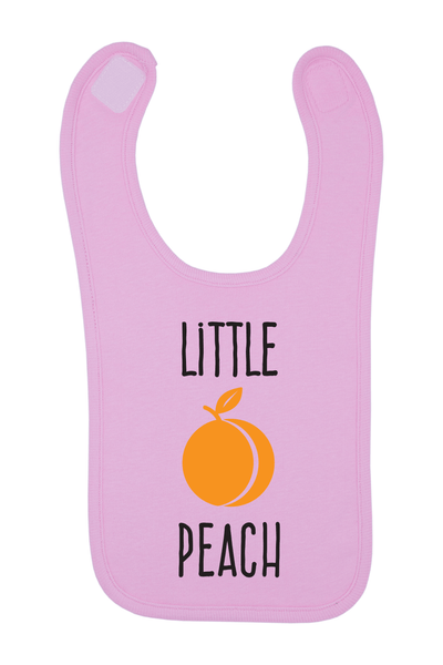 Little Peach Baby Bib, 0-24 Months