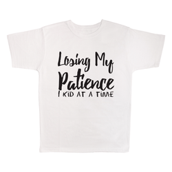 Losing My Patience 1 Kid At A Time, 100% Polyester Adult Shirt