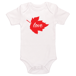 Love, Canadian Maple Leaf Baby / Toddler Bodysuit