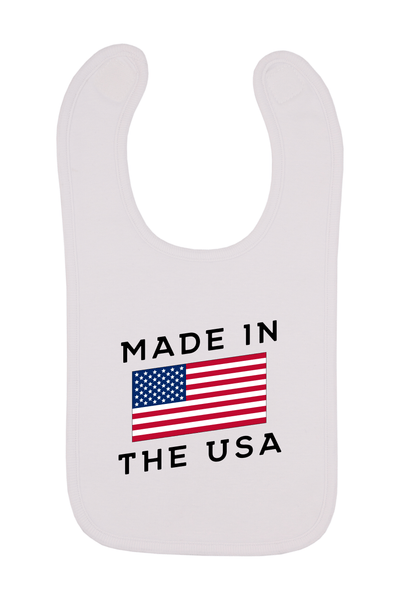 Made In The USA Baby Bib, 0-24 Months