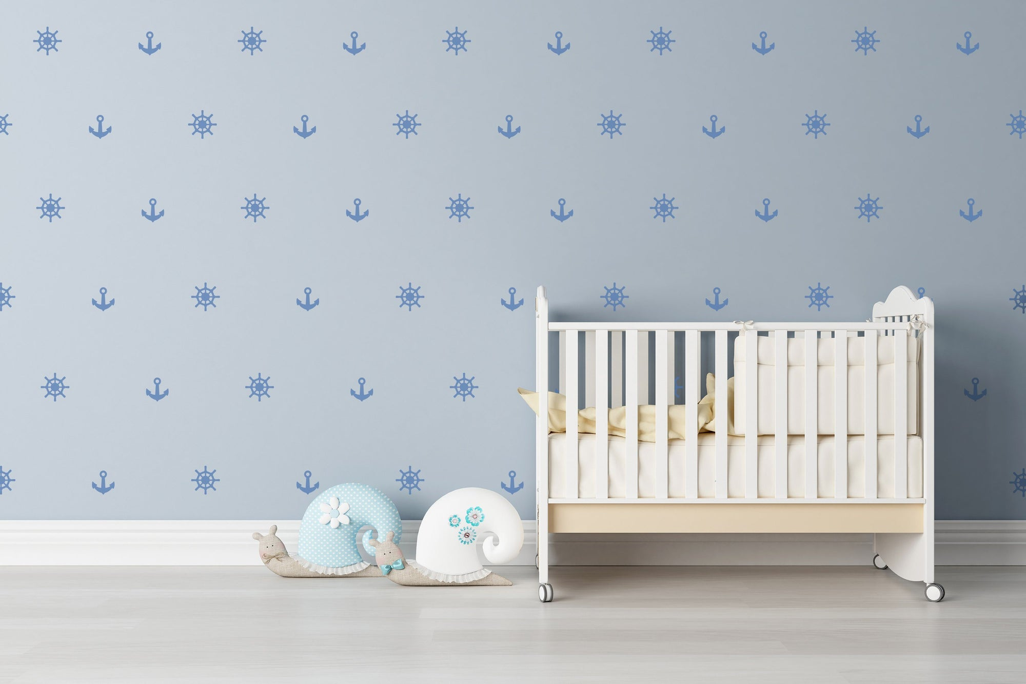 Anchor Nautical Nursery Wall Art - Vinyl Wall Decals For Nurseries, Children's Rooms, And Home Decor