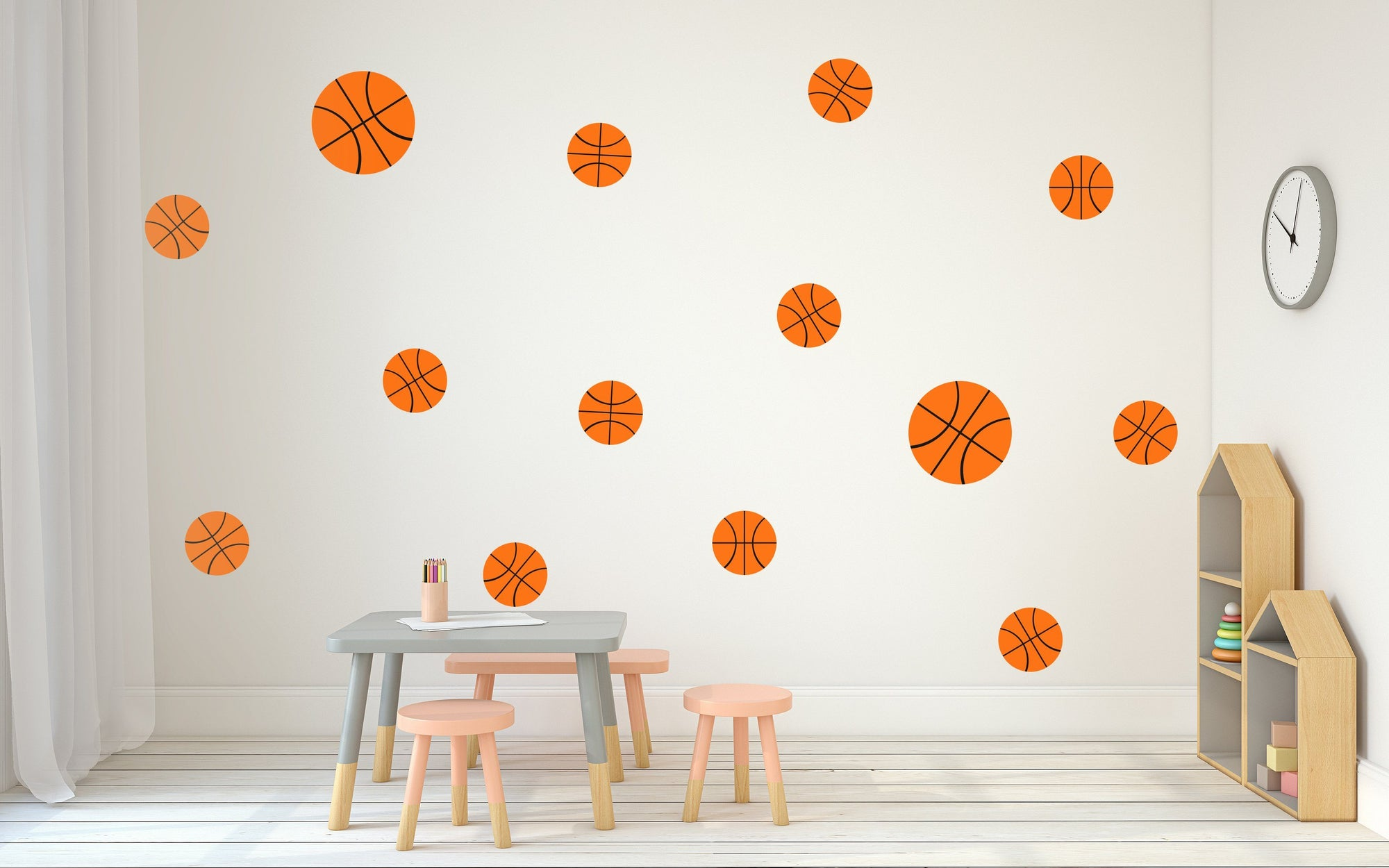 Basketball Nursery Wall Art - Vinyl Wall Decals For Nurseries, Children's Rooms, And Home Decor