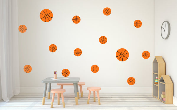 Basketball Nursery Wall Art - Vinyl Wall Decals For Baby Boy And Baby Girl Rooms