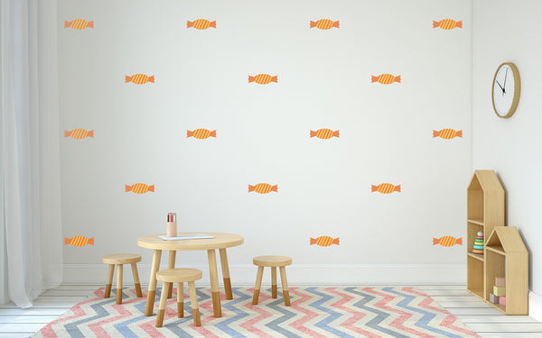 Candy Sweets Wall Art - Dessert Nursery Decals For Baby Boy And Baby Girl Rooms