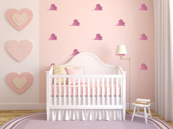 Stylish Clouds Wall Art - Vinyl Wall Decals For Nurseries, Children's Rooms, And Home Decor