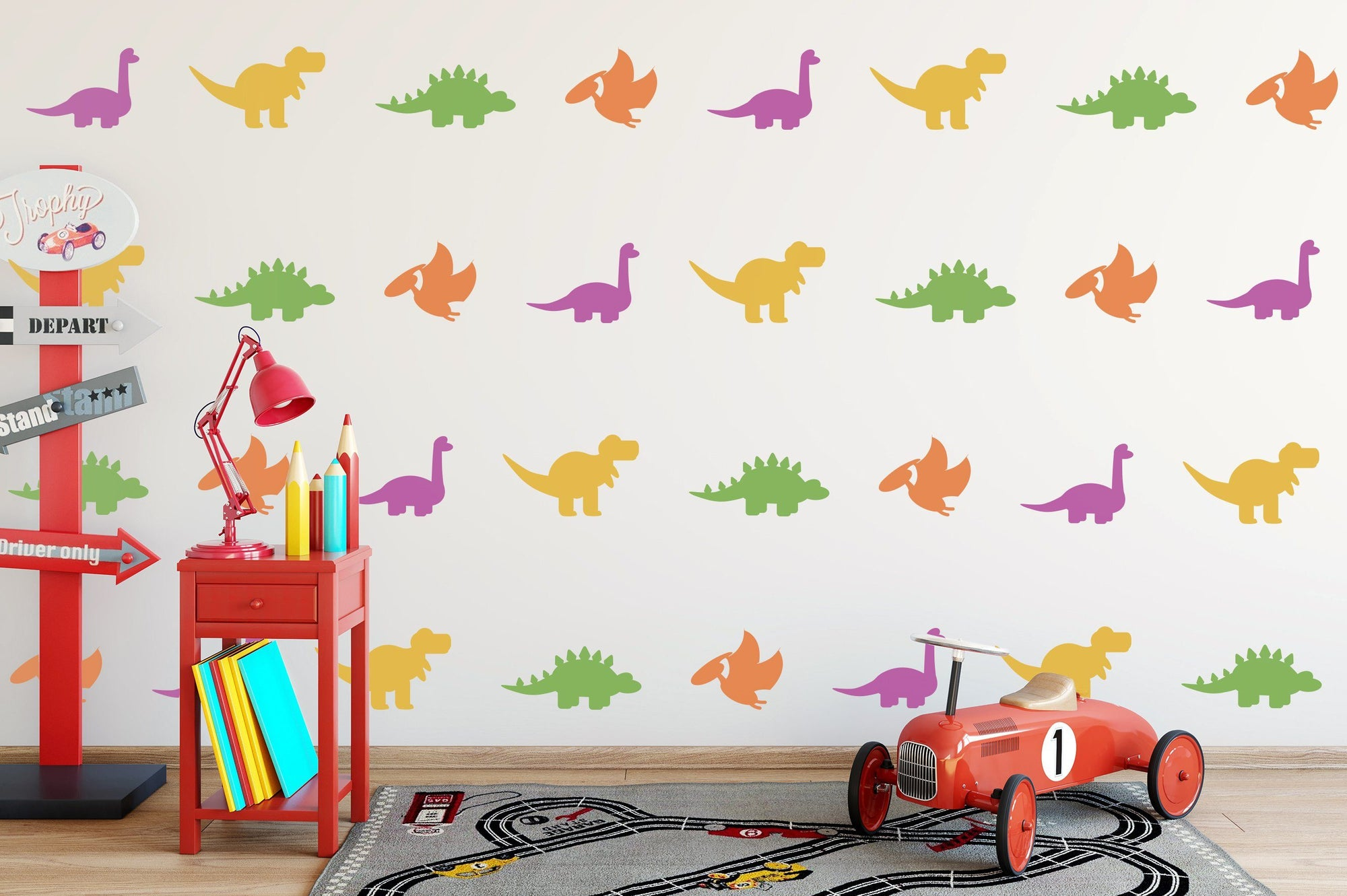 Dinosaur Nursery Wall Art - Vinyl Wall Decals For Nurseries, Children's Rooms, And Home Decor